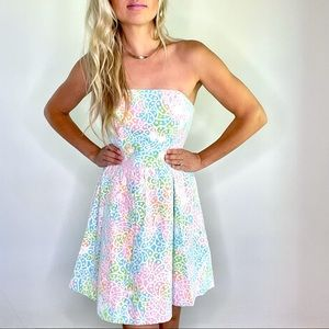 Lilly Pulitzer White Lottie Lace Strapless Dress